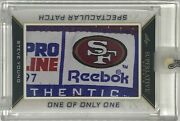 1/1 Steve Young ⭐ Game Used Jersey Patch Tag Logo 49ers Non Auto Hof Legend Rare