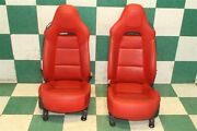 2015 C7 Coupe Gt Tango Red Leather Power Driver Passenger Bucket Seats Pair Oem