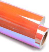 Holographic Opal Coral Orange Adhesive Craft Vinyl 12 Inch X 6 Feet For Cricut