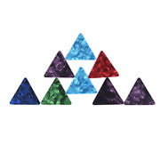 3x Triangle Guitar Pick For Acoustic Electric Guitar Thickness 0.71mm Moutgr