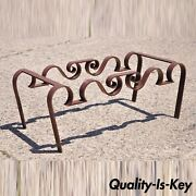 Artisan Crafted Wrought Iron Regency Sculptural Ribbon Scroll Coffee Table Base