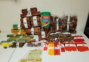 Vintage Lincoln Logs Lot - 1000 + Pieces All Listed - Original