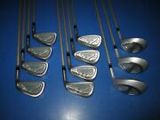 Sweet Women's Tommy Armour 855's Silver Scot 3-p Irons And 1 3 5 Woods Ready2play