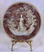 Gayle Bright Appleby She Walks In Beauty Plate 13473 Sculptured 10 Plate