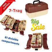 Outdoors Hip Roof Fishing Tackle Boxtray Portable Tool Storageoil-resistlarge