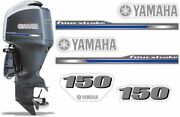 Outboard Engine Graphics Kit Sticker Decal For Yamaha 150 4 Stroke 2013+