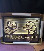 """Beer Sign Led Firestone Walker Brewing Company 26""""x18"""" New In The Box Not Neon"""