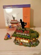 Department 56 Black Cat Lighted Diner Halloween Gift Set 56.55310 You Go First