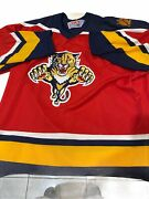 Preowned Vintage Ccm Nhl Florida Panthers Hockey Team Jersey Size Xl