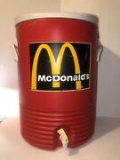 Mcdonald's Igloo Commercial Red 10 Gallon Drinking Water Cooler Spout Handles