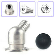 Marine Stainless Steel Boat Cockpit Deck Drain Scupper W/ Inspection Ball Usa