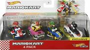 Hot Wheels Mario Kart Characters And Karts As Die-cast Toy Cars 4-pack