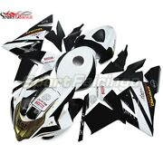 Abs Fairings For Zx-10r 2004 2005 Zx10r 04 05 Injection White Black Bodywork
