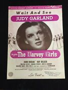 Judy Garland - Wait And See Vintage Sheet Music, 1945 The Harvey Girls