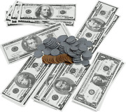 Click N' Play Pretend Play Money For Kids Realistic Bills Coins Counting Math