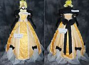 A-217 Rin Victorian Rococo Cosplay Costume Gothic Ball Evening Gown Gelb Wedding