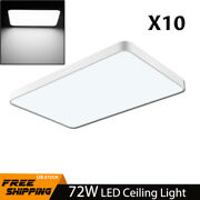 10x 72w Led Ceiling Light Cool White Ultra Thin Flush Mount Kitchen Home Fixture