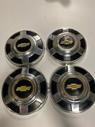 73-87 Chevy 3/4 Ton Dog Dish Hubcaps 12 Set Of Pickup Truck