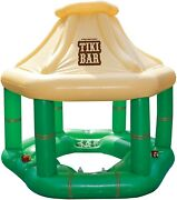 6 Drink Holdersswimming Pool Inflatable Tiki Bar W/ice Coolers
