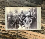 Very Rare Arab Middle Eastern Armed Delegation Royalty In England 1890s Photo