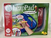Leap Frog Leappad Leap Pad Learning System + Microphone Red Blue W/ 2 Books New