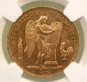 1904 France Gold 50 Francs Lucky Angel Ngc Ms61