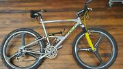 Vintage Gt Team Rts Mountain Bike - 90s Mtb Xtr Spin Carbon Wheels + Extras