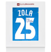 Gianfranco Zola Signed Chelsea Shirt - 1998 Ecwc Final Number 25 Felt Numbers