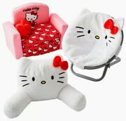 Hello Kitty 18 Doll Pillow, Saucer Chair And Fold Out Couch /sofa Bed My Life As