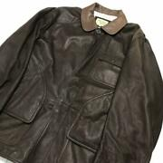 90's Vintage Second-hand Clothes Argyle Club Leather Hunting Jacket