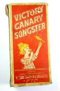 Antique Victory Canary Songster Toy Whistle 1920's With Original Cardboard Box