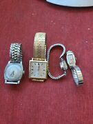 Vtg Lot Of Men And Ladies Gold Filled Watches Scrap Recovery Waltham,elgin. B10