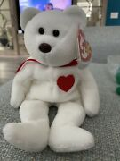 Ty Beanie Baby - Valentino The Bear - 1993/1994 P.v.c Pellets Retired Brown Nose