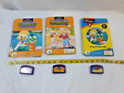 Lot Of 3 Leap Pad Phonics And Reading Game Cartridge And Book Ships Free