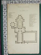 C1830 Antique Print Plan Of Wells Cathedral North Porch Chapel Aisles Nave