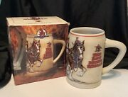 1991 Anheuser Busch Budweiser Bud Beer Stein Clydesdales On Parade
