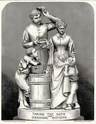 John Rogers Civil War Sculpture - Taking The Oath And Drawing Rations 1866