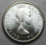 Canada 1961 Silver 10 Cents Choice Brilliant Uncirculated Lustrous 3a