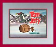 Original Hanna Barbera Tom And Jerry Hand Painted Animation Production Cel Framed