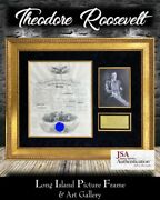 President Theodore Roosevelt Signed Appointment Document Frame Jsa Loa Free Ship