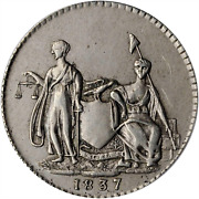 1837 3 Cent Feuchtwanger Ht-262 Anacs Xf45 Spectacular Fields Pewter Patina