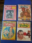 Vintage 1950 The Ring Boxing Magazine. Lot Of 8
