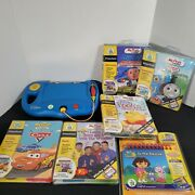 Leapfrog My First Leappad Blue System And Lot 12 Books+cartridges Tested Working