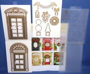 Door Dies And Decorations 2 Embossing Folders 2 Doors 13pcs Htf By Anna Griffin