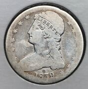 1839-o 50c Capped Bust Half Dollar Ag Key Date Lds Nice Low Ball Album Coin