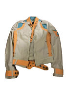 Diesel Womenand039s Jacket Size S Small Light Green Blue Full Zip