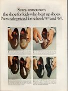 Vintage Advertising Print Ad Fashion Shoes Sears For Kids Who Beat Up Shoes 1967
