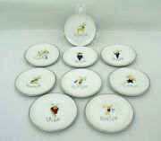 9 Pottery Barn - Reindeer - 4 Coasters - Excellent Unused Condition