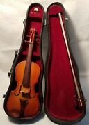 Vintage Small Miniature Violin With Case