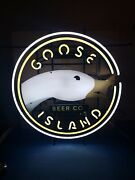 Goose Island Beer 312 Neon Light Up Duck Sign Game Room Chicago Il New